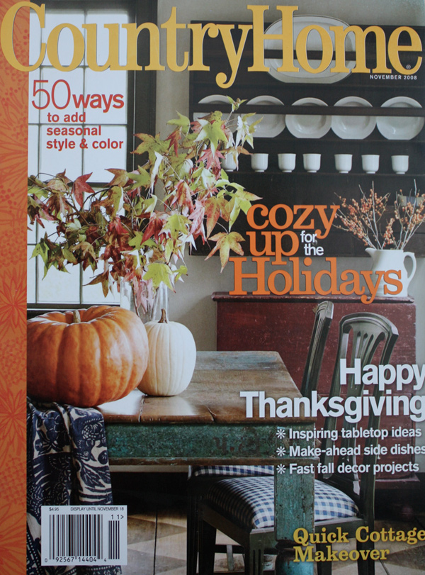 2008 November - Country Home cover