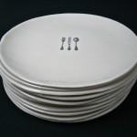 """7"""" porcelain plates."""