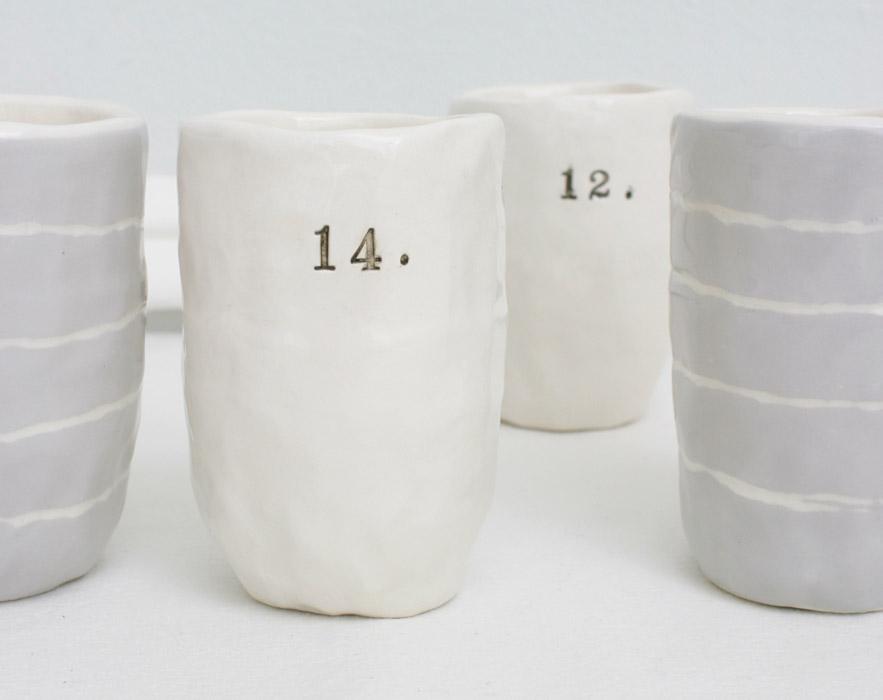 Cups Rae Dunn Clay Fine Handmade Pottery