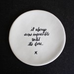 calligraphy plate.