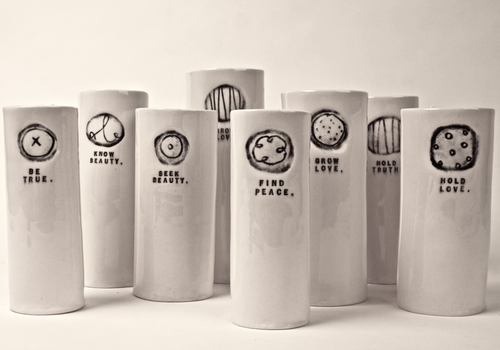 Vases Rae Dunn Clay Fine Handmade Pottery