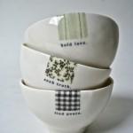 porcelain bowls by rae dunn.