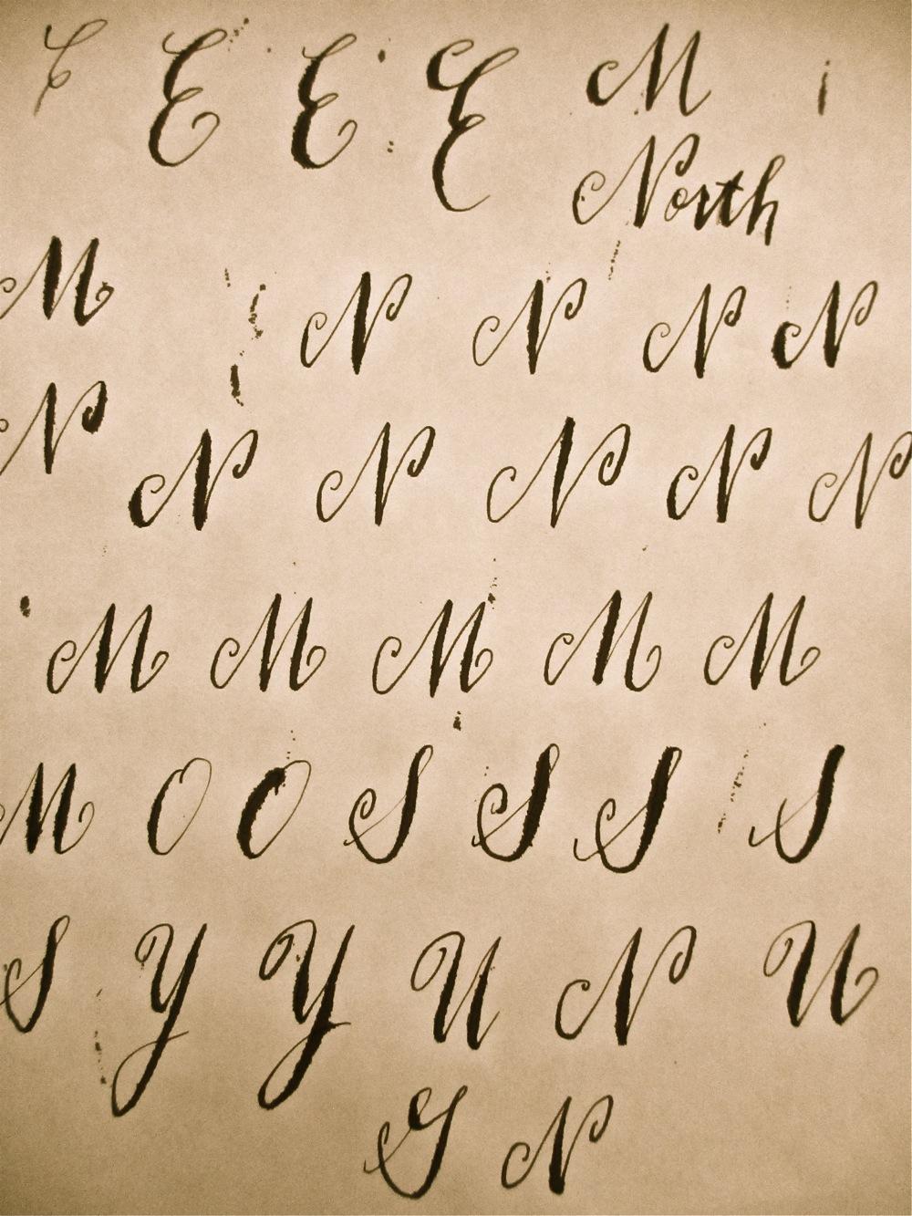 Beautiful Writing Alphabet The Image
