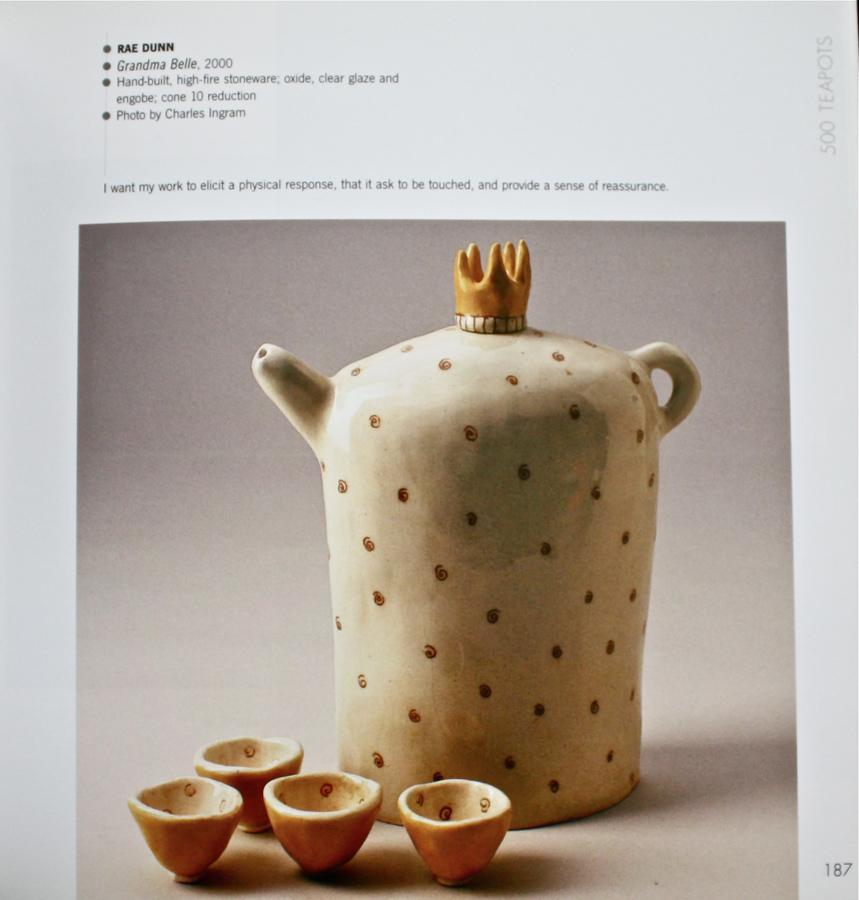 500 Teapots Rae Dunn Clay Fine Handmade Pottery