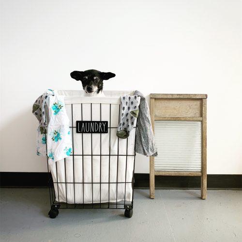 Laundry Basket Rae Dunn Clay Fine Handmade Pottery