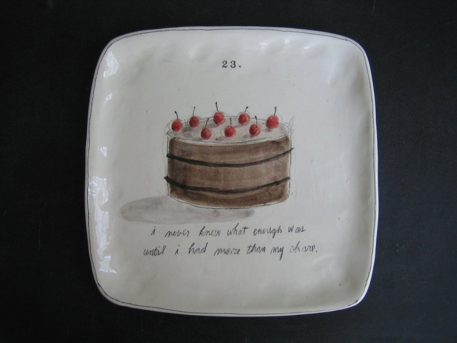 Let Them Eat Cake Rae Dunn Clay Fine Handmade Pottery