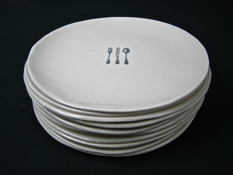 Plates Rae Dunn Clay Fine Handmade Pottery
